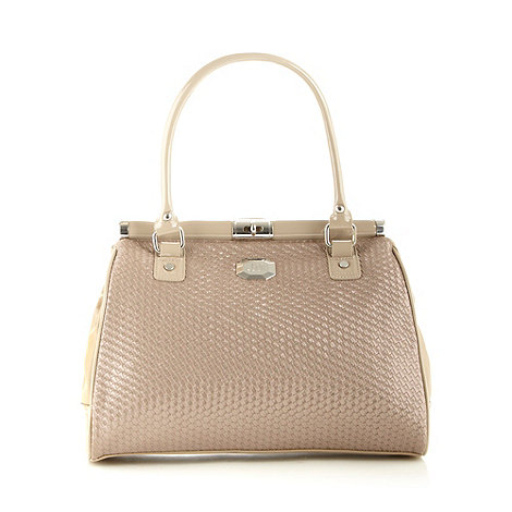 Star by Julien Macdonald - Designer natural metallic weave tote bag