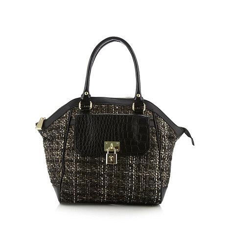 Star by Julien Macdonald - Designer black metallic tweed tote bag