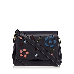 Mantaray - Navy floral cut-out cross body bag