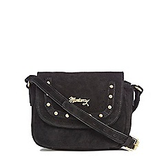 Mantaray - Black suede studded small cross body bag