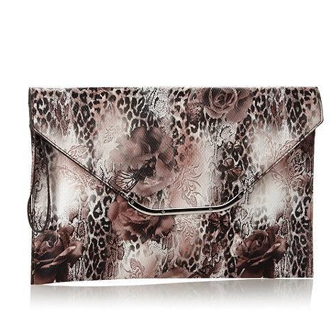 Star by Julien Macdonald - Designer black floral clutch bag