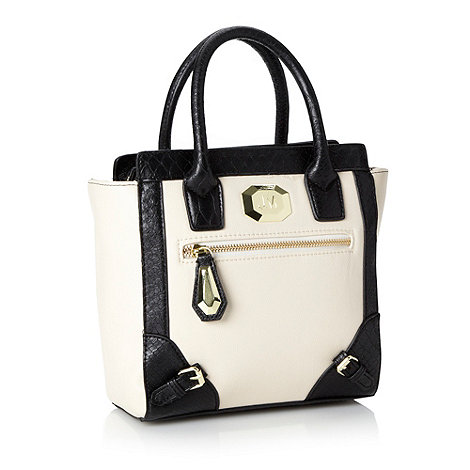 Star by Julien Macdonald - Designer cream small colour block tote bag