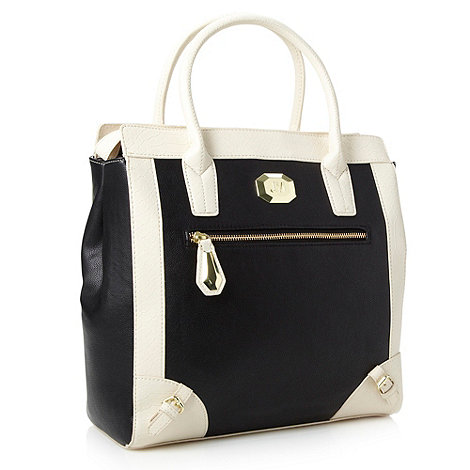 Star by Julien Macdonald - Designer black colour block tote bag