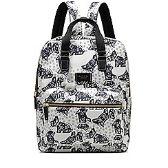 Radley - Folk dog ivory large ziptop backpack