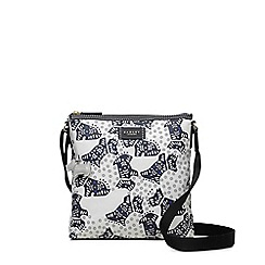 Radley - Folk dog ivory medium zip-top cross body bag