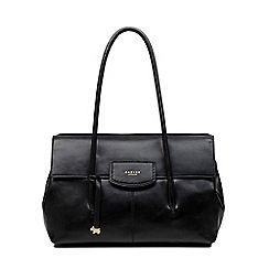 Radley - Burnham Beeches black large flapover shoulder bag