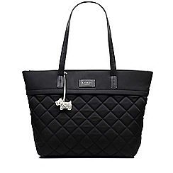 Radley - Hilly fields black large zip-top tote bag