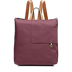 Radley - Pocket essentials pink large zip-top backpack