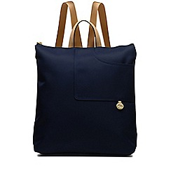 Radley - Pocket essentials navy large zip-top backpack