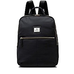 Radley - Gladstone park black large zip-top backpack