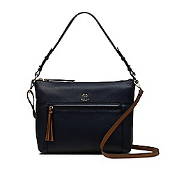 Radley - Postman's park navy medium zip-top multiway bag