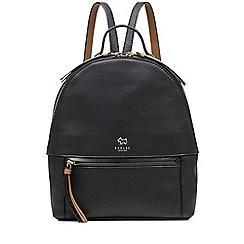 Radley - Postman's park black medium zip-top backpack