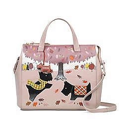 Radley - Autumn days pale pink large zip-top multiway bag