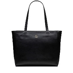 Radley - Greyfriars gardens black large zip-top tote bag