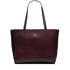 Radley - Greyfriars gardens burgundy large zip-top tote bag