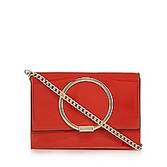 Faith - Red patent circle detail shoulder bag