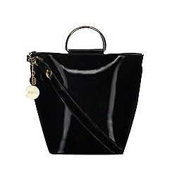 Faith - Black patent large bucket bag