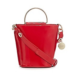 Faith - Red patent cross body bag