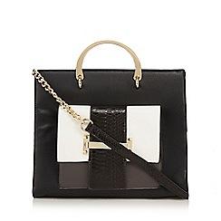 Faith - Black monochrome tote bag