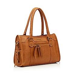 Mantaray - Tan whipstitch large grab bag