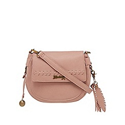 Mantaray - Light pink whipstitch cross body bag