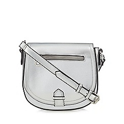 Red Herring - Silver cross body saddle bag