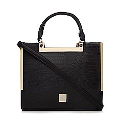 Faith - Black crocodile-effect grab bag