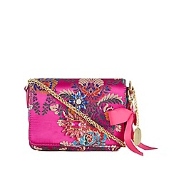 Faith - Pink oriental embellished cross body bag