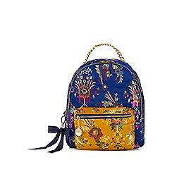 Faith - Navy oriental print backpack