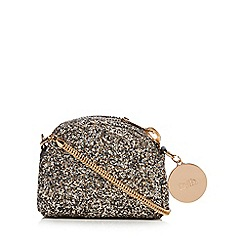 Faith - Silver glitter cross body bag