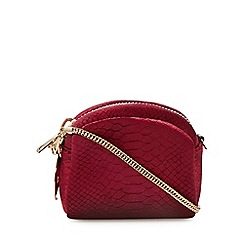 Faith - Dark red velvet cross body bag
