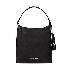 Versace Jeans - Black patchwork shoulder bag