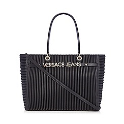 Versace Jeans - Black pleated tote bag