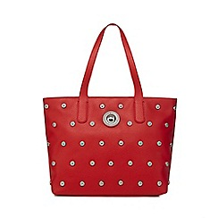 Versace Jeans - Red studded tote bag