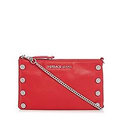 Versace Jeans - Red embellished clutch bag