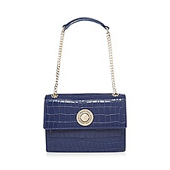 Versace Jeans - Blue croc-effect shoulder bag