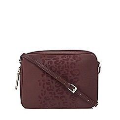 Cavalli Class - Wine red velvet detail cross body bag