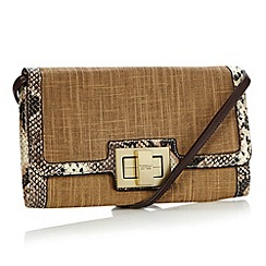 Fiorelli - Tan snake trimmed shoulder bag