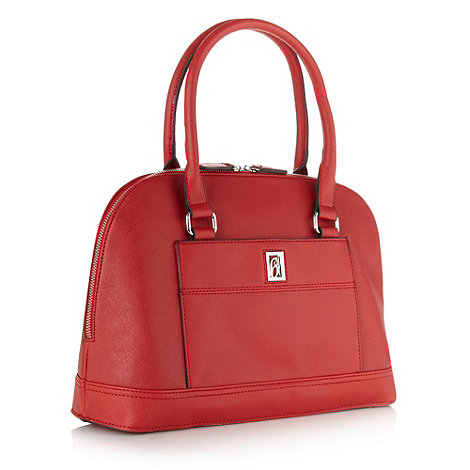 Principles by Ben de Lisi - Designer red crosshatch kettle bag