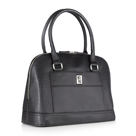 Principles by Ben de Lisi - Designer black crosshatch kettle bag