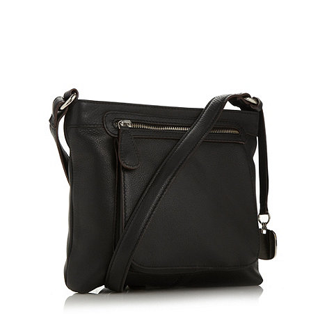 Betty Jackson.Black - Designer black leather cross body bag