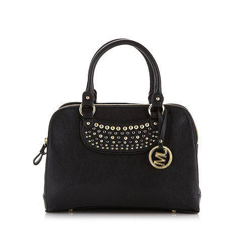 Star by Julien Macdonald - Designer black studded three section grab bag