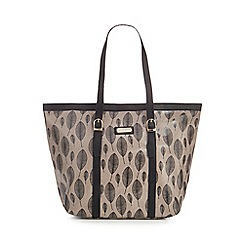 Kangol - Grey leaf print tote bag