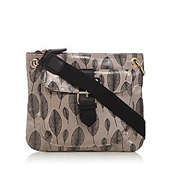 Kangol - Tan leaf print cross body bag