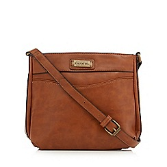 Kangol - Brown pocket front cross body bag