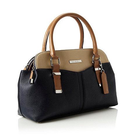 Principles by Ben de Lisi - Designer navy crosshatch colour block grab bag