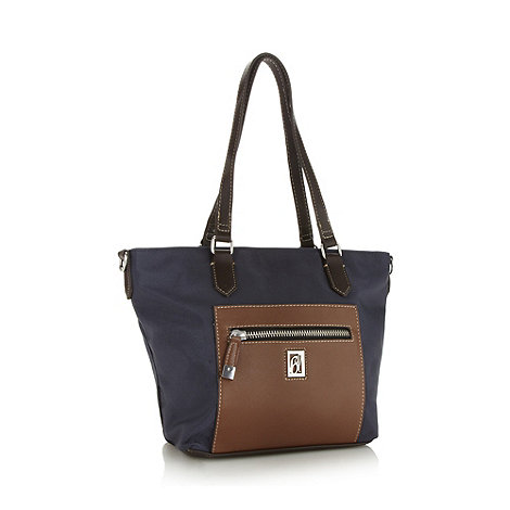 Principles by Ben de Lisi - Designer navy nylon tote bag
