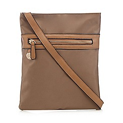 Kangol - Tan zip cross body bag