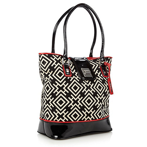 Principles by Ben de Lisi - Designer black geo shopper bag