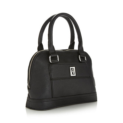 Principles by Ben de Lisi - Designer black crosshatch small kettle bag